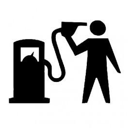 Autocolante - Gas and Gun
