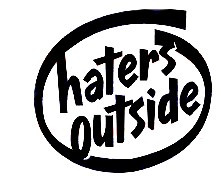 Autocolante - Haters outside