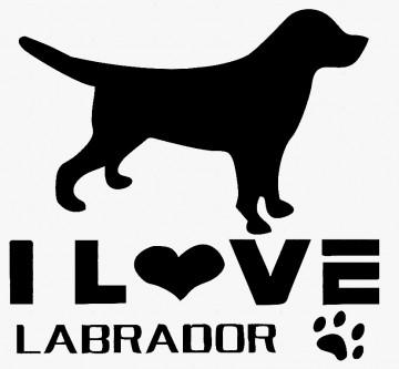 Autocolante - I Love Labrador