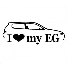 Autocolante - I Love my EG