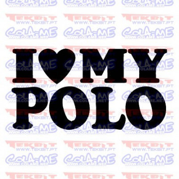 Autocolante - I love My Polo