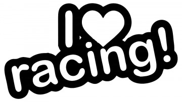 Autocolante - I love racing!