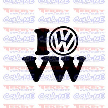 Autocolante - I Love VW