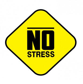 Autocolante Impresso - No Stress