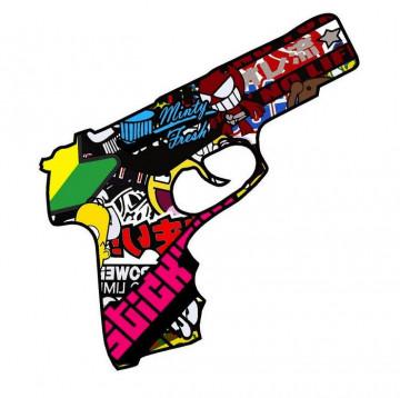Autocolante Impresso - Pistola Bomb sticker