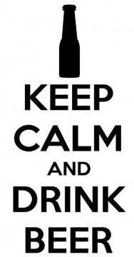 Autocolante - Keep calm and drink beer