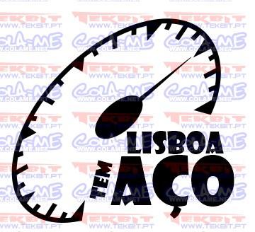 Autocolante - Lisboa tem aço
