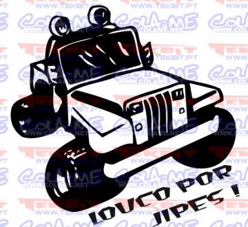 Autocolante - Louco por jipes