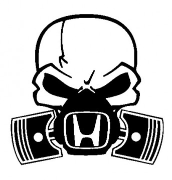 Autocolante - Máscara  de Gás HONDA