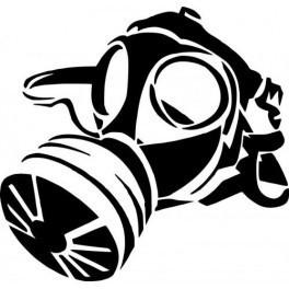 Autocolante - Máscara de Gás