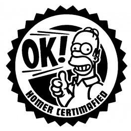 Autocolante - OK! Homer Certimafied