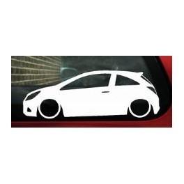 Autocolante - Opel Corsa D 3 Portas