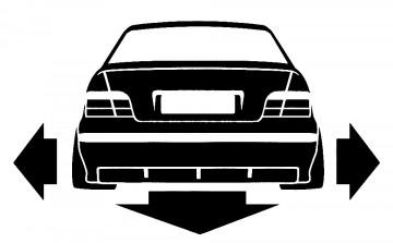 Autocolante para BMW E36 Coupe