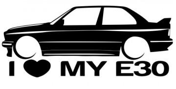 Autocolante para I love BMW E30