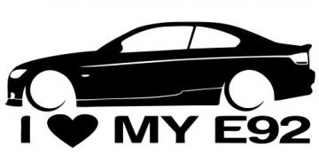 Autocolante para I love BMW E92