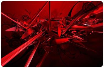 Autocolante para Portátil - Abstracto Vermelho