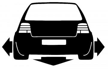 Autocolante para VW Golf 4