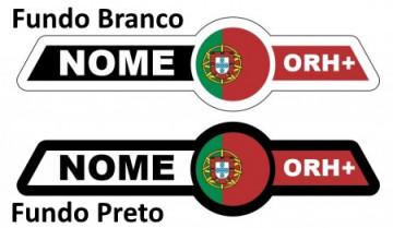 Autocolante personalizado - Bandeira + Nome / Frase + Grupo sanguíneo