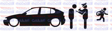 Autocolante - Policia e ladrões - Seat Leon