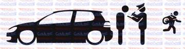 Autocolante - Policia e ladrões - VW Golf 6