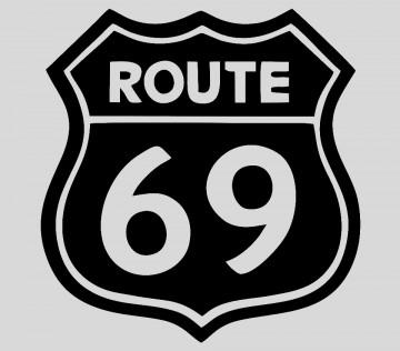 Autocolante - Route 69