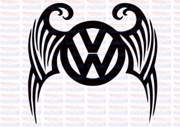 Autocolante -vw asas tribal