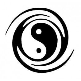Autocolante - Ying-Yang 2