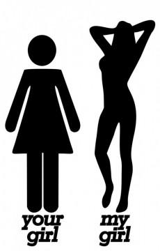 Autocolante - Your Girl / My girl