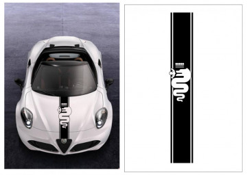 Autocolantes - Faixa Capot - Alfa Romeo