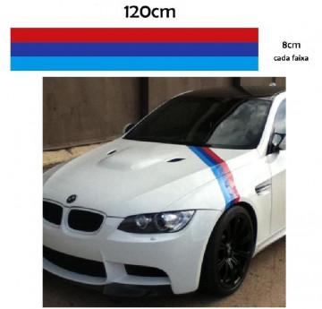 Autocolantes - Faixas BMW (azul claro, azul escuro, vermelho) 120x8cm