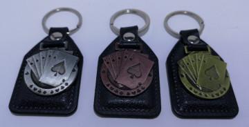Fita porta chaves com cartas
