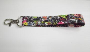 Fita Porta Chaves com Sticker Bomb Padrão 1