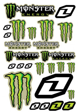 Folha / Pack de Autocolantes - Monster 03