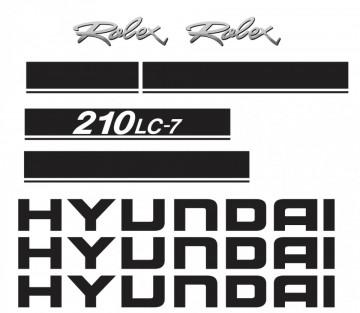 Kit de Autocolantes para HYUNDAI 210LC-7