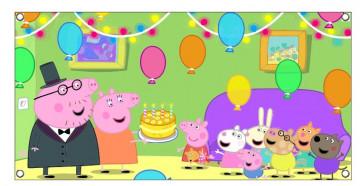 Lona de Aniversário - Peppa