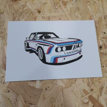 Placa Decorativa em PVC - BMW