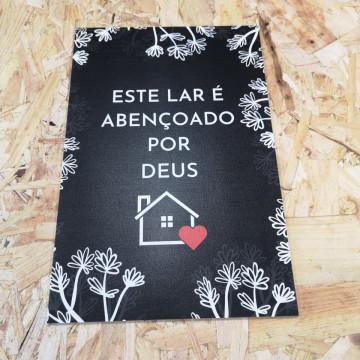 Placa Decorativa em PVC - Este Lar É Abençoado Por Deus