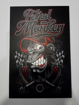 Placa Decorativa em PVC - Petrol Monkey