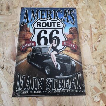 Placa Decorativa em PVC - Route 66