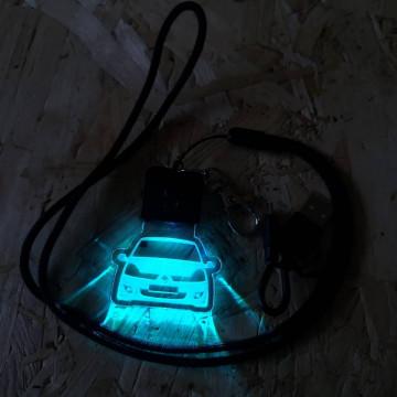 Porta Chaves com luz Multicor com Renault Clio 2, fase 2