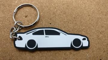 Porta Chaves com silhueta de BMW E46
