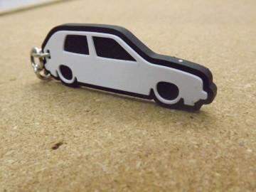 Porta Chaves com silhueta de Volkswagen Golf II / MKII - 3 Portas