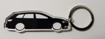 Porta Chaves de Acrílico com silhueta de Seat Leon ST