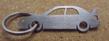 Porta Chaves de inox com silhueta de Subaru Impreza