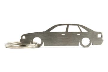 Porta Chaves em inox com silhueta com Audi 80