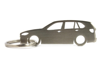 Porta Chaves em inox com silhueta com BMW F15 X5 X5M
