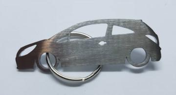 Porta Chaves em inox com silhueta com Opel Corsa D 3P
