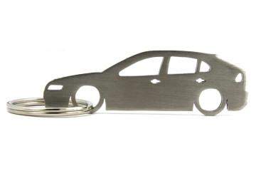 Porta Chaves em inox com silhueta com Seat Leon 1M 5P