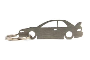 Porta Chaves em inox com silhueta com Subaru Impreza WRX GT GC 2d