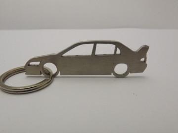 Porta Chaves em inox com silhueta de Mitsubishi EVO